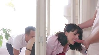 FamilyStrokes - Stuck MILF Fucked By Both Step-Sons